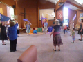 Thornbury - Dancing with flags, Thornbury Baptist Church  - 1